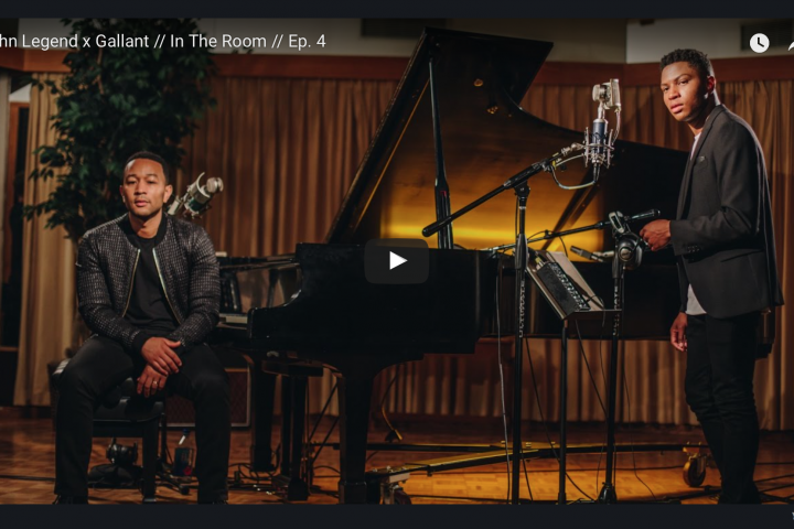 Watch John Legend And Gallant Duet On 'Overload' : NPR